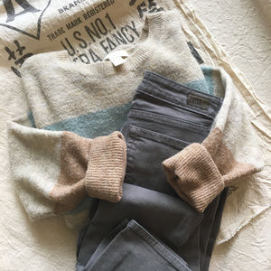 H&M Pastel Striped Sweater